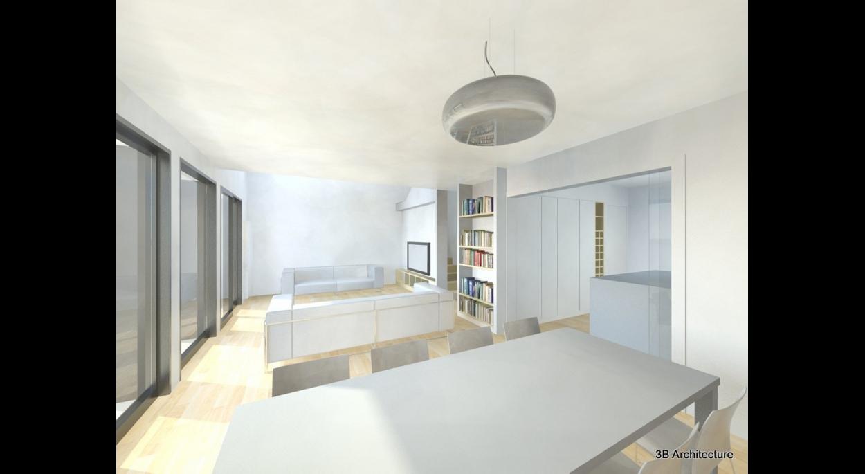 Rénovation et surélévation d'une petite maison à Blainville-sur-l'Eau 54