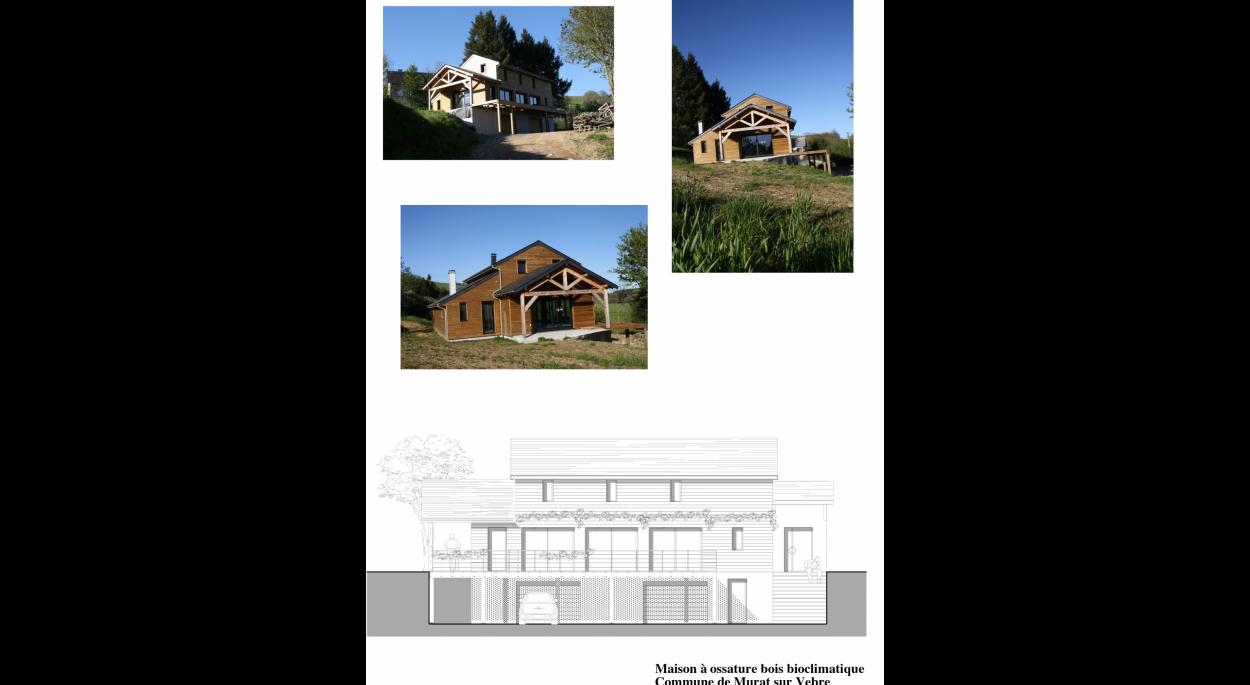Maison bois avec une typologie adaptée au climat.