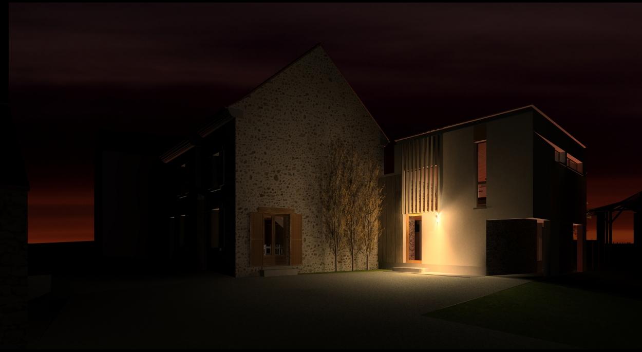 Rémi TURC architecte Château-Thierry Reims Épernay – extension maison, projet cour