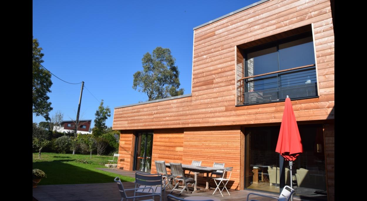 olivier samzun architecte , maison bioclimatique à COMBRIT SAINTE-MARINE