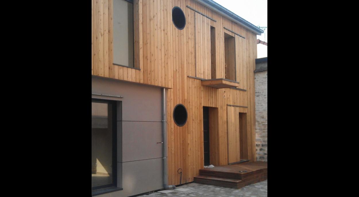 façade nord cour logements n°2 et n°1