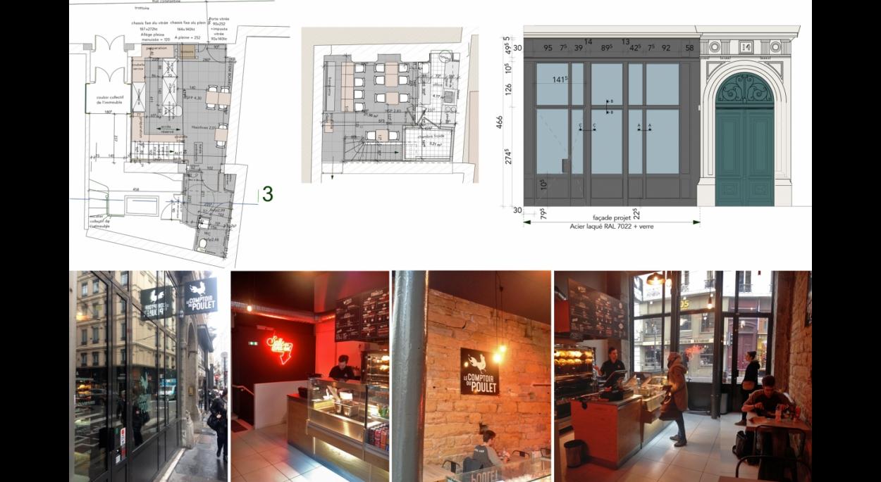 Aménagement d'un restaurant et mise en conformité du local.