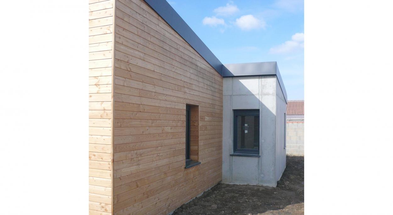 HUMEZ ARCHITECTURE – Damien-Olivier HUMEZ – architecte DPLG en Vendée(85): MAISON CHÂTEAU D'OLONNE 01 - 03