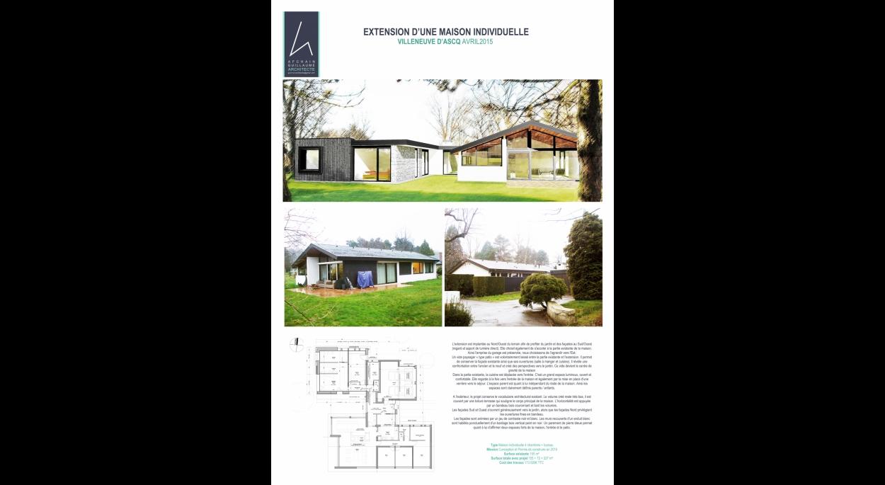 extension d'une maison individuelle | afchain guillaume architecte