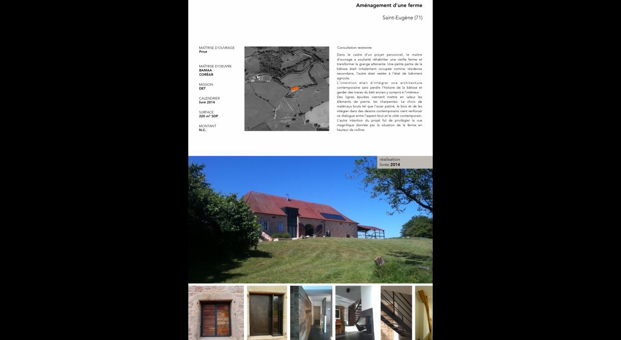 Réhabilitation d'une ferme, intégration d'une architecture contemporaine en dialogue avec l'histoire du lieu et les matériaux anciens