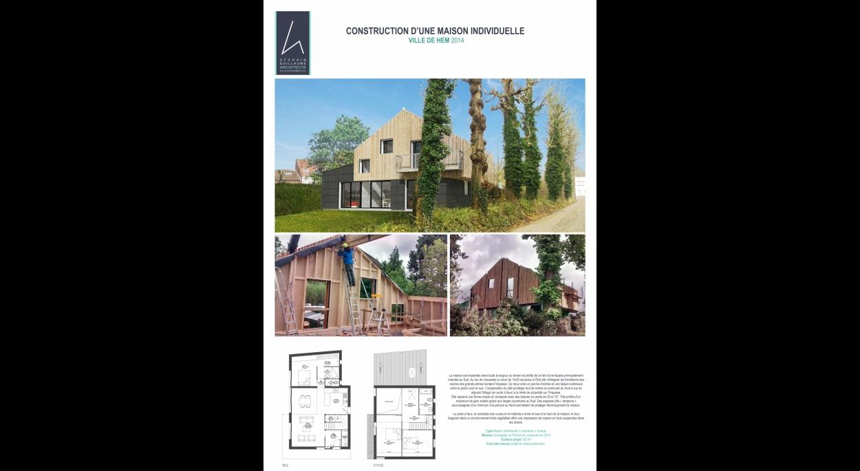 Construction maison en oassture bois