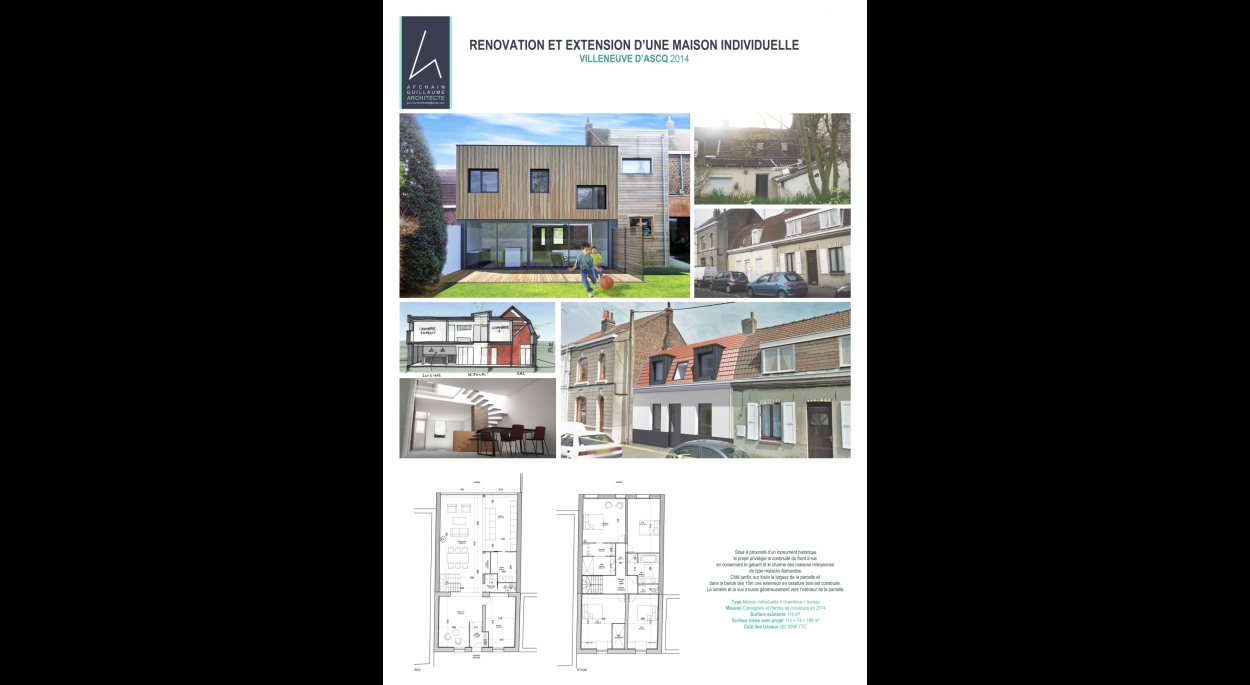 Rénovation et extension maison flamande