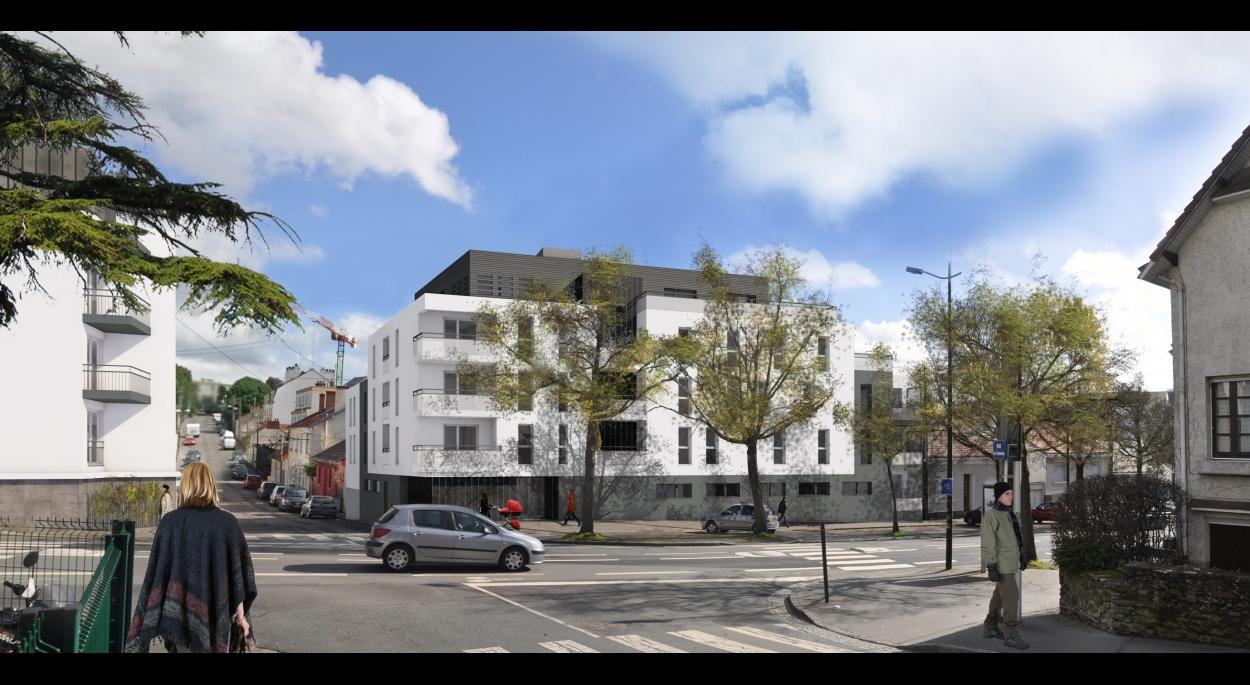 Vue angle Rue Trémissinière/Rue Felix Lemoine