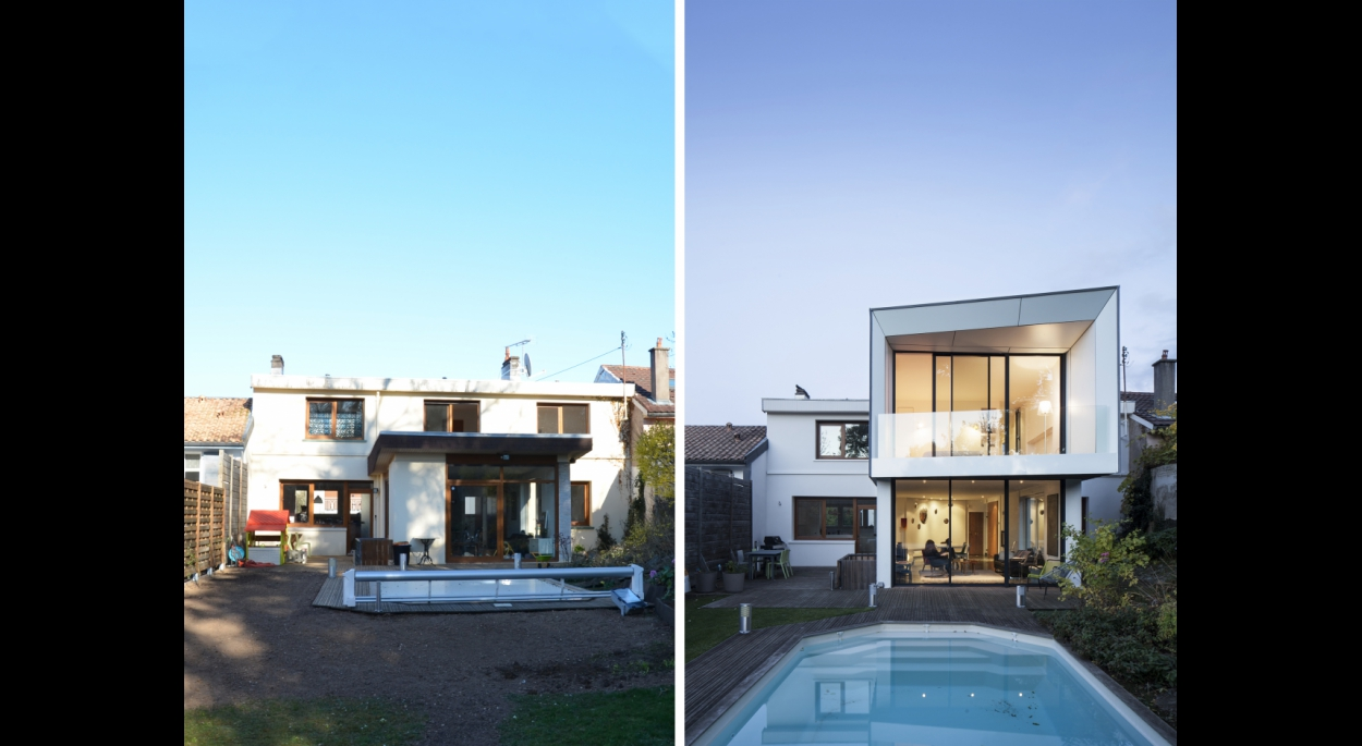 Extension d'une maison et restructuration intérieure - studiolada architectes