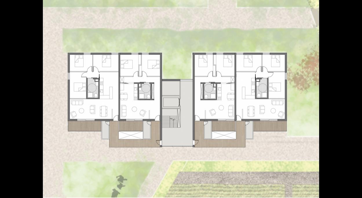Plan type d'un bâtiment
