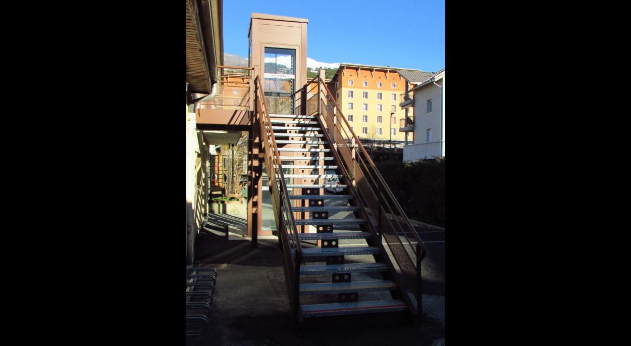 Escalier d'accès extérieur