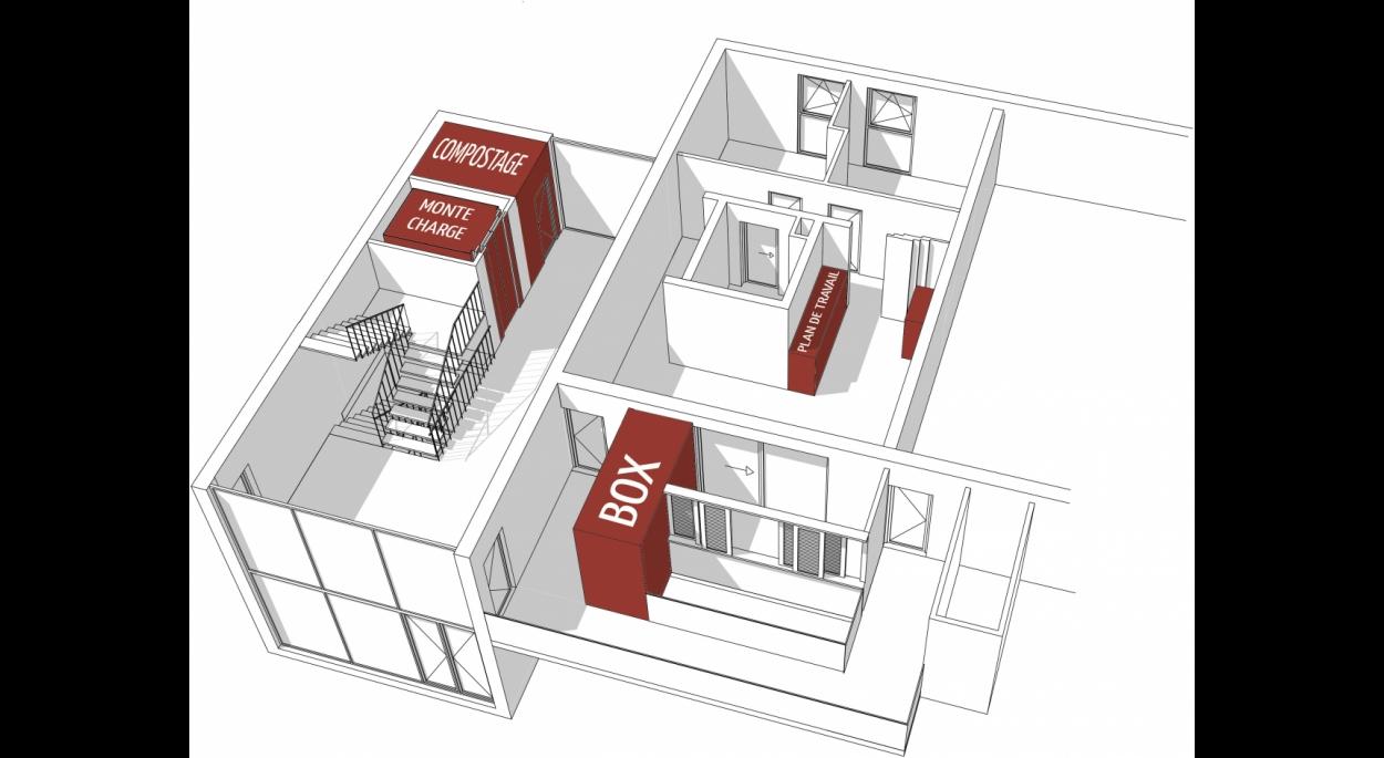 Schéma conceptuel et organisationnel d'un logement type
