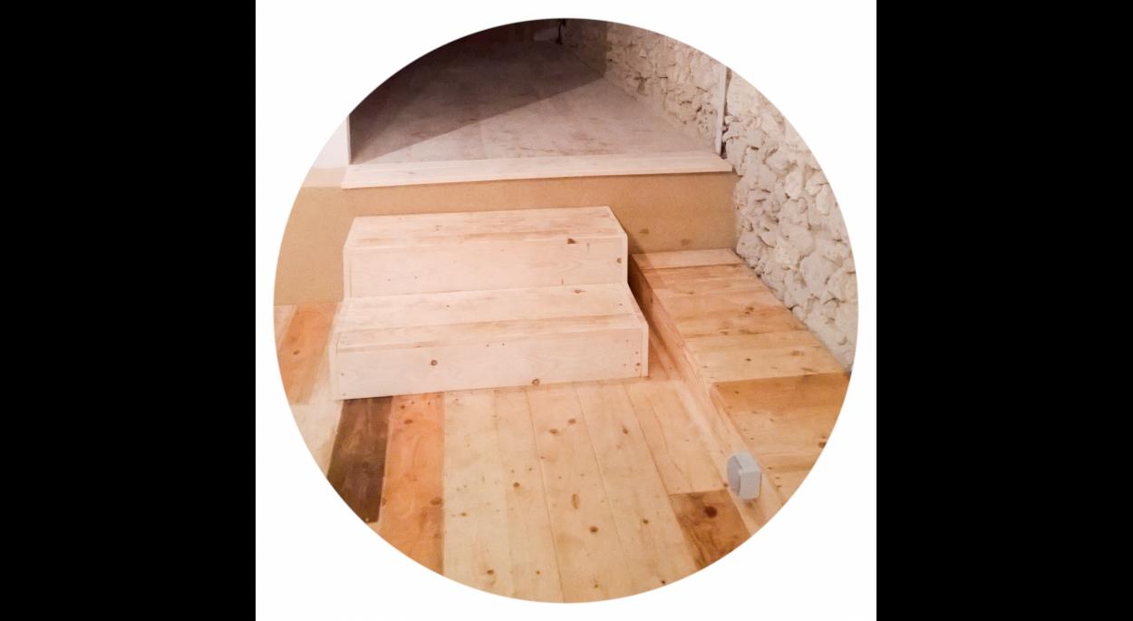 planchers en bois de palette