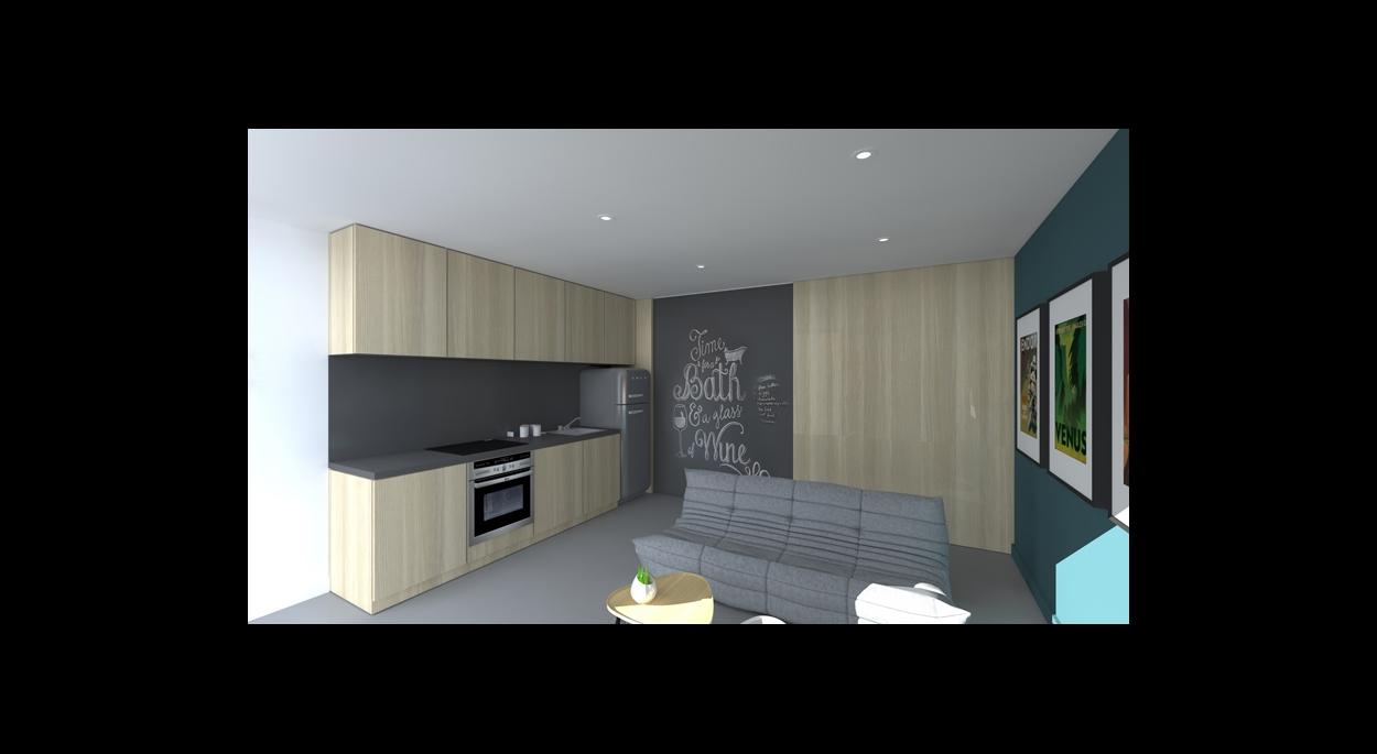 Transformation d'un garage en logement locatif à Névian, Aude