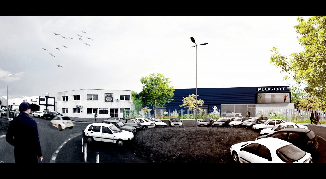 PAIRON Ghislain Architecte _ Atelier automobile + show-room _ Etrechy (91)
