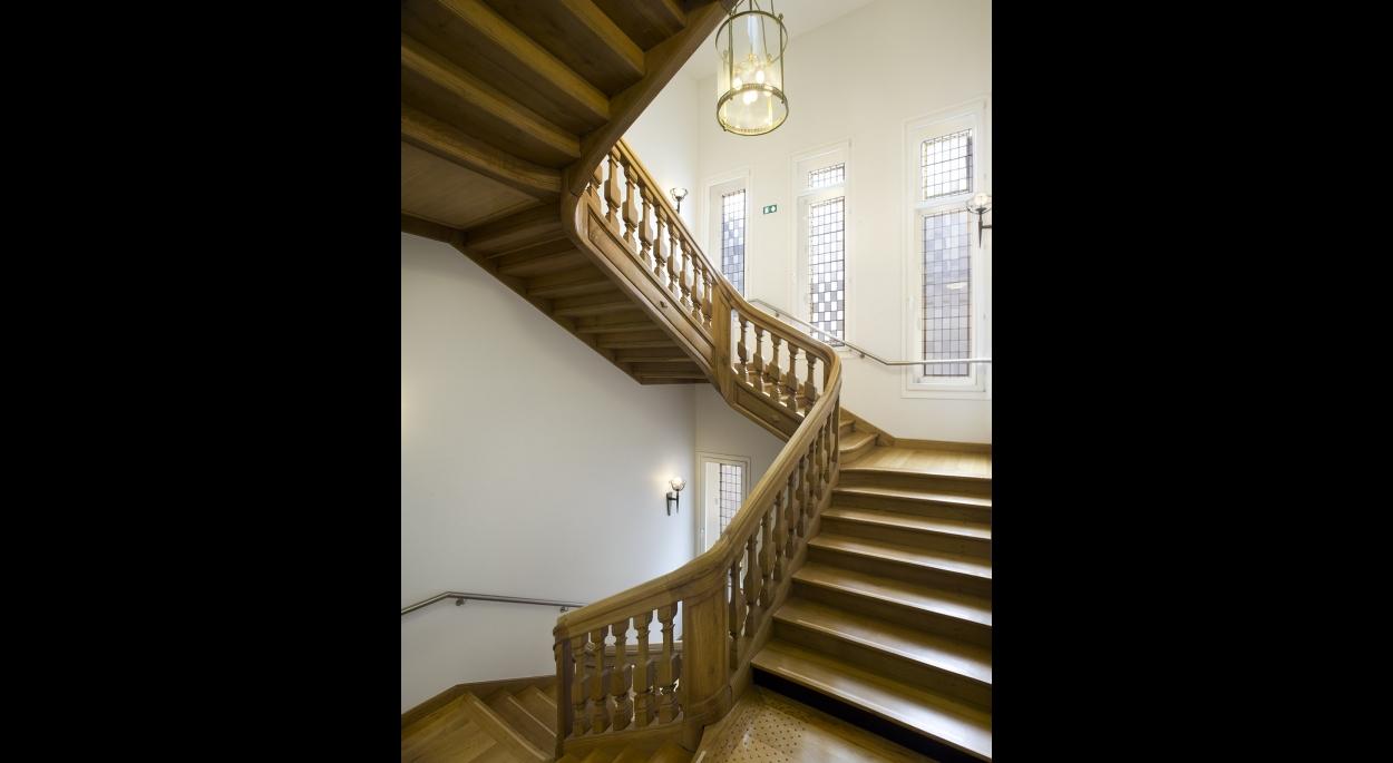 L'escalier mis en valeur