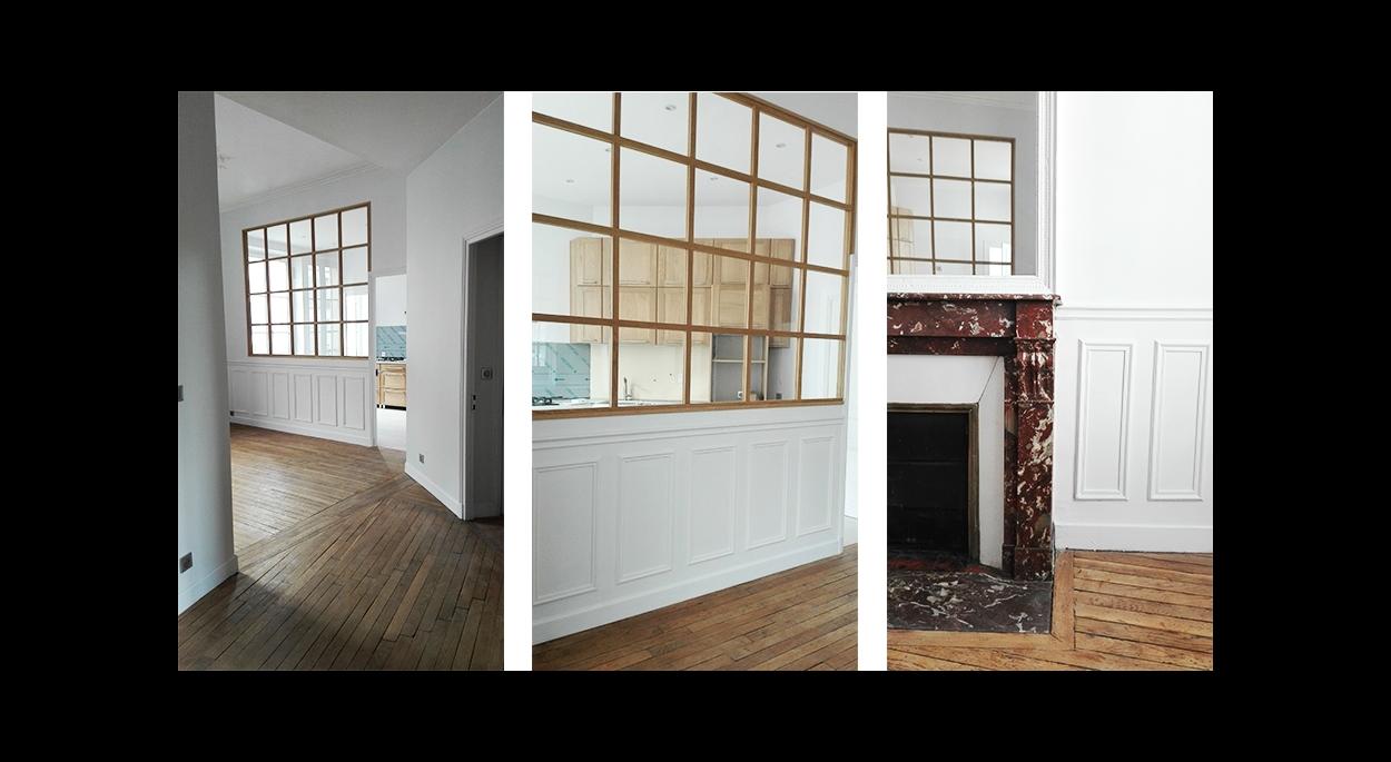 Rénovation d'un appartement de 105m² de style ancien en centre ville - venez voir la suite sur www.atelierbplus.fr !