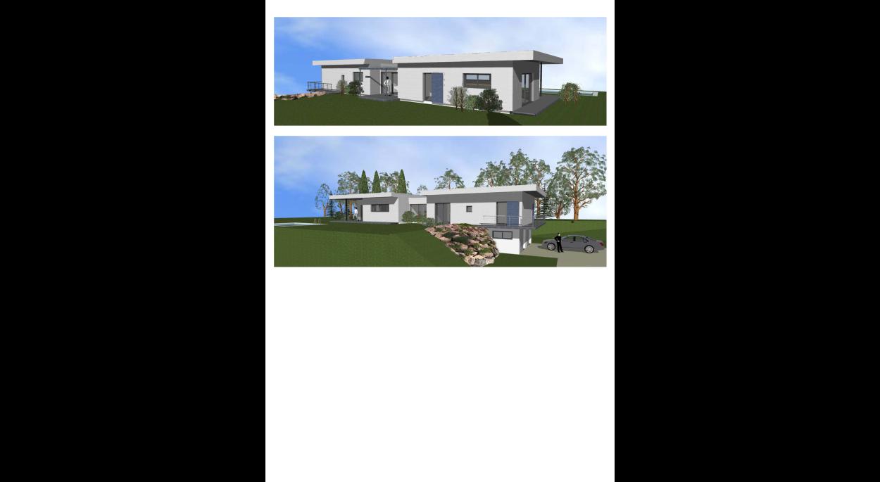 Perspectives projet habitation en bardage métallique