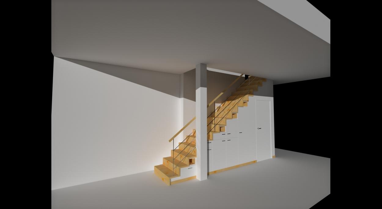 Création d'un escalier avec rangement