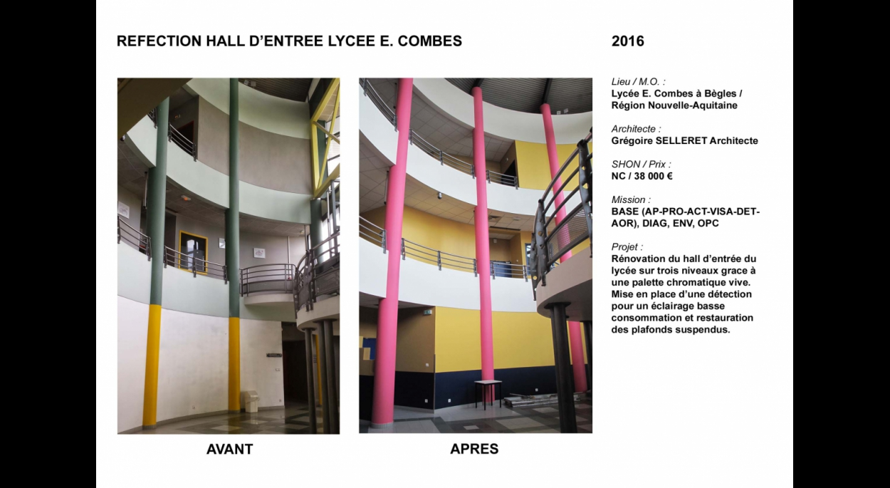 Réfection hall atrium