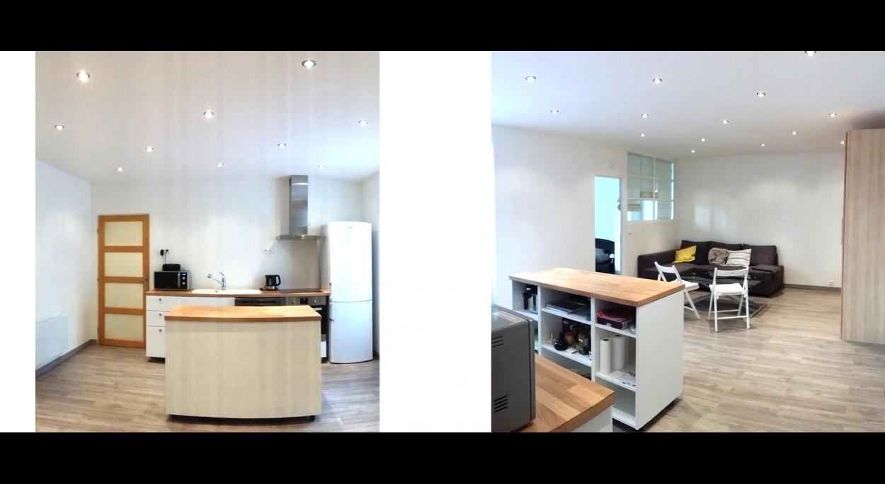 Rénover un T2 de 47m² pour une location saisonnière - venez voir la suite sur www.atelierbplus.fr !