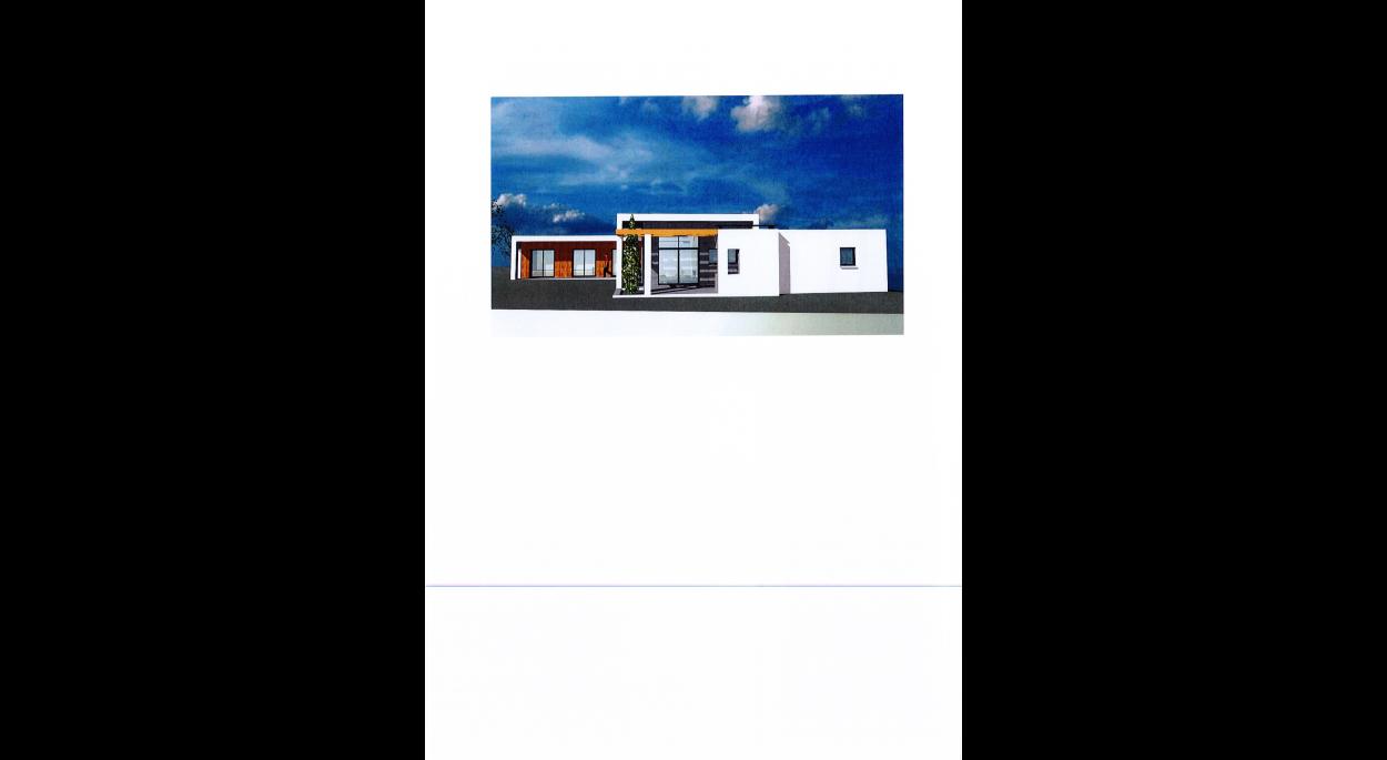 Habitation toits plats - Murs enduits et bardage bois