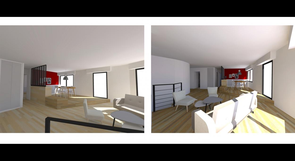 Restructuration de deux appartements en duplex / création d'un escalier pour les relier - venez voir la suite sur www.atelierbplus.fr !