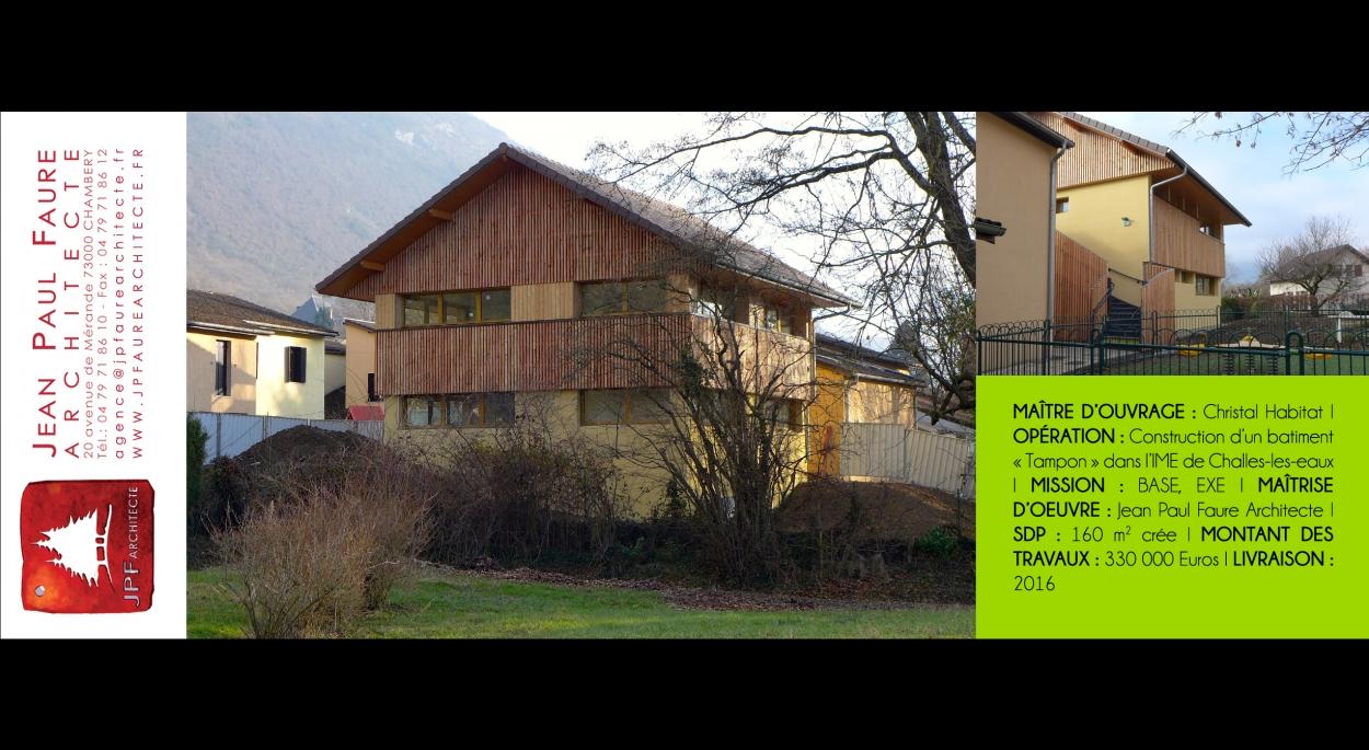 IME CHALLES LES EAUX - JEAN PAUL FAURE ARCHITECTE