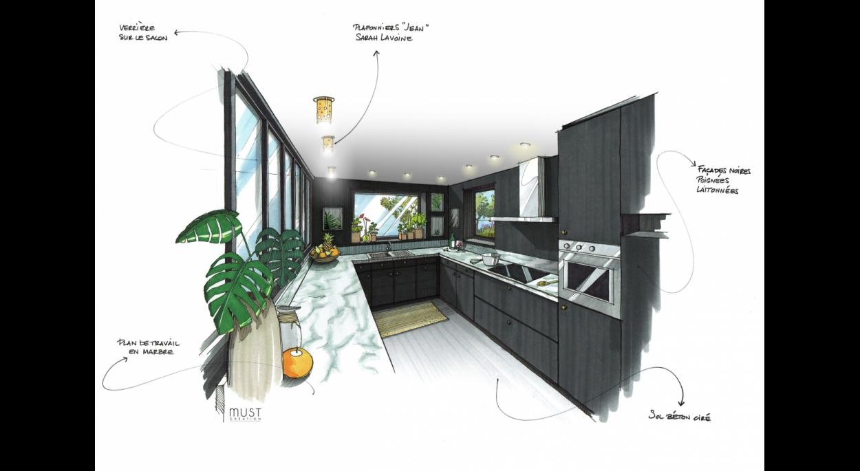 Meej Architecture / Maison en Provence vue Cuisine