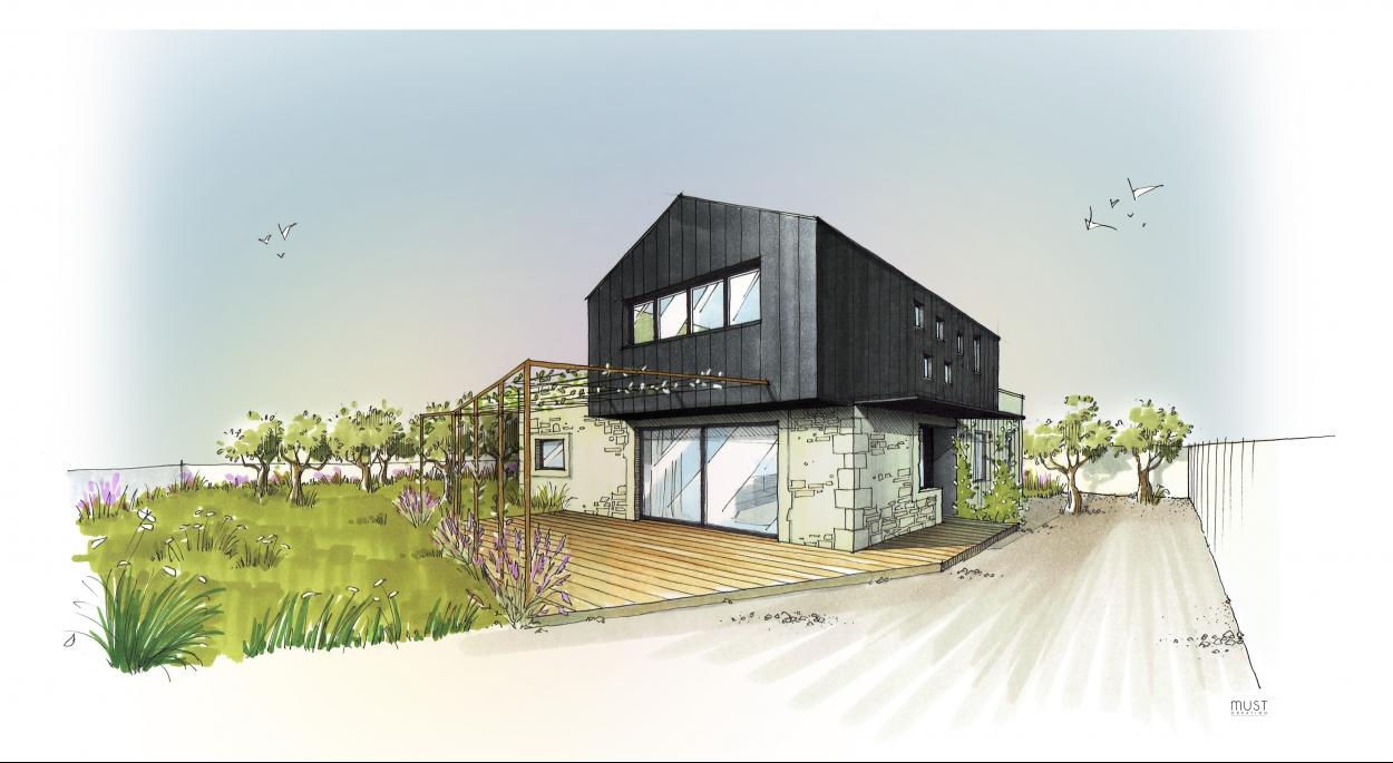 Maison De 130M2 construction d'une maison de 130m2 | meej architecture | rennes