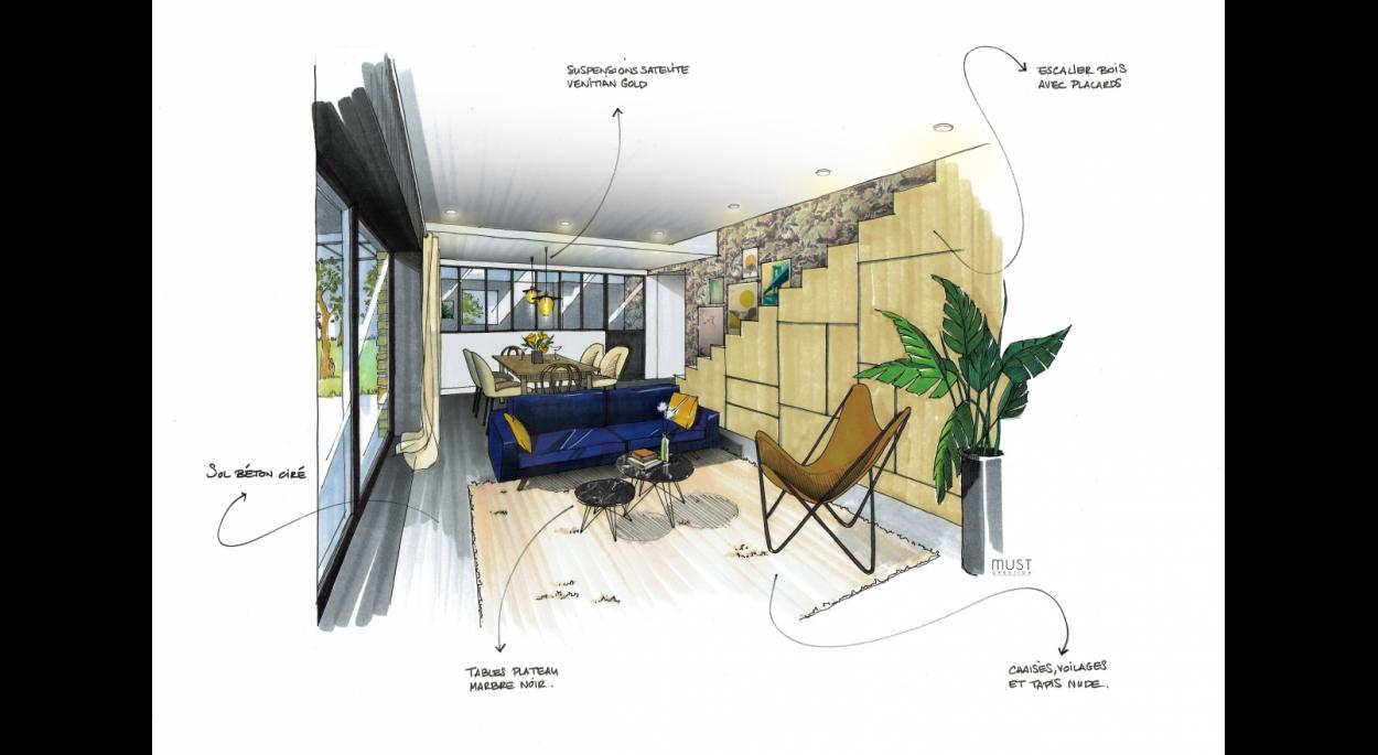 Meej Architecture / Maison en Provence vue Salon