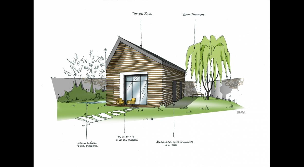 Meej Architecture / Studio d'invités vue extérieure