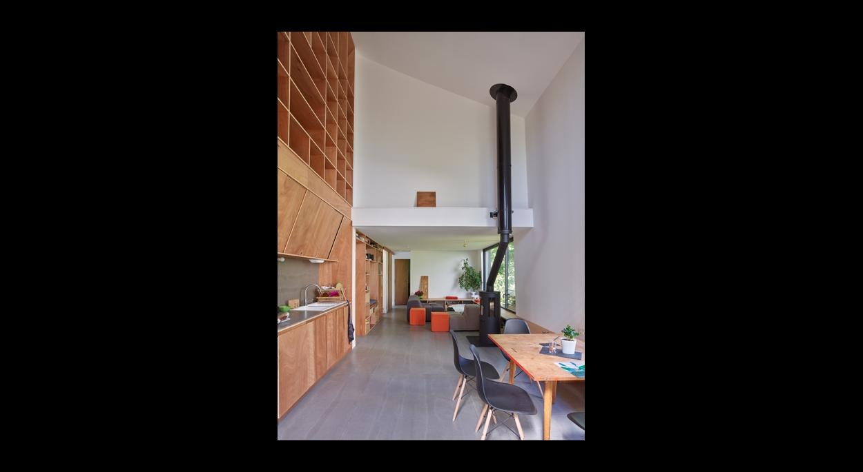 volumes et mobilier intégré