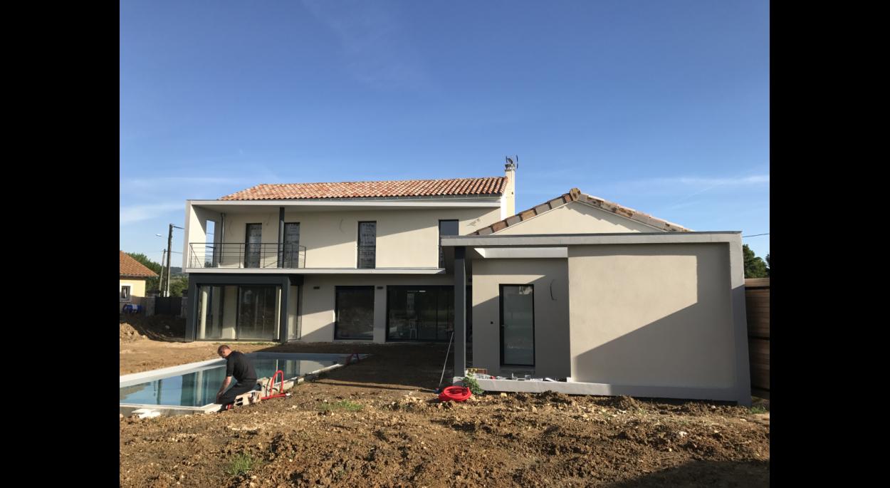 MOOVIS Architecte - Villa D2 - façade sud sur jardin