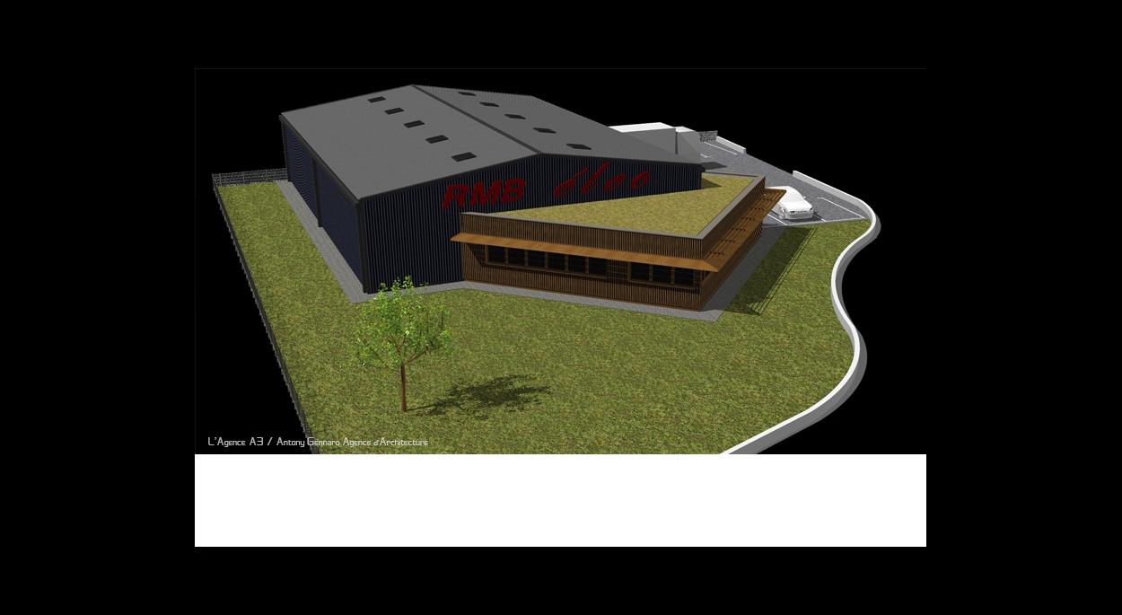 Bâtiment tertiaire, bureaux et stockage