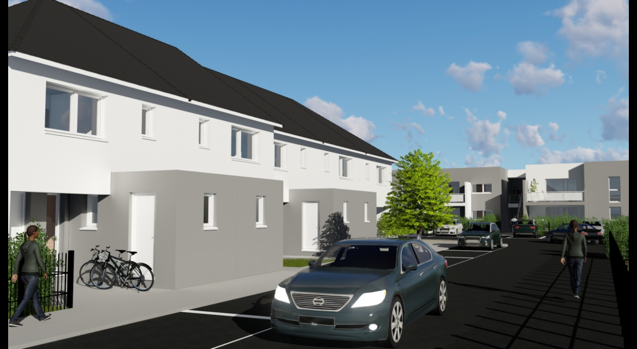 logements collectifs à la Chapelle St Luc, département de l'Aube
