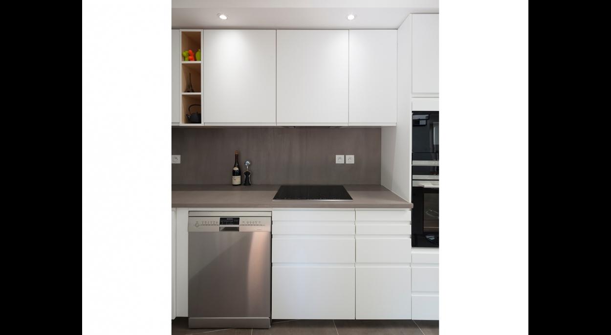 matesco architecture_cuisine à l'étage existant rénové