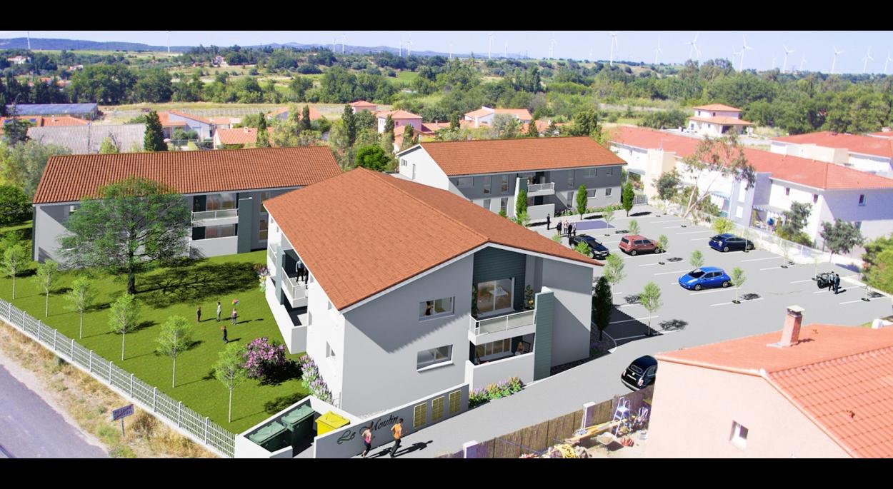 logements collectifs à Pézilla-la-Rivière, département des Pyrénées Orientales 66