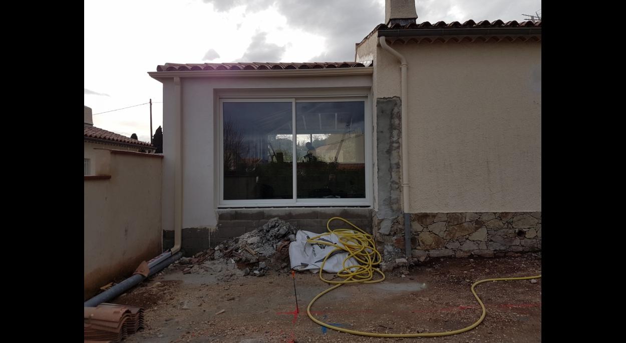 l'extension en cours de chantier