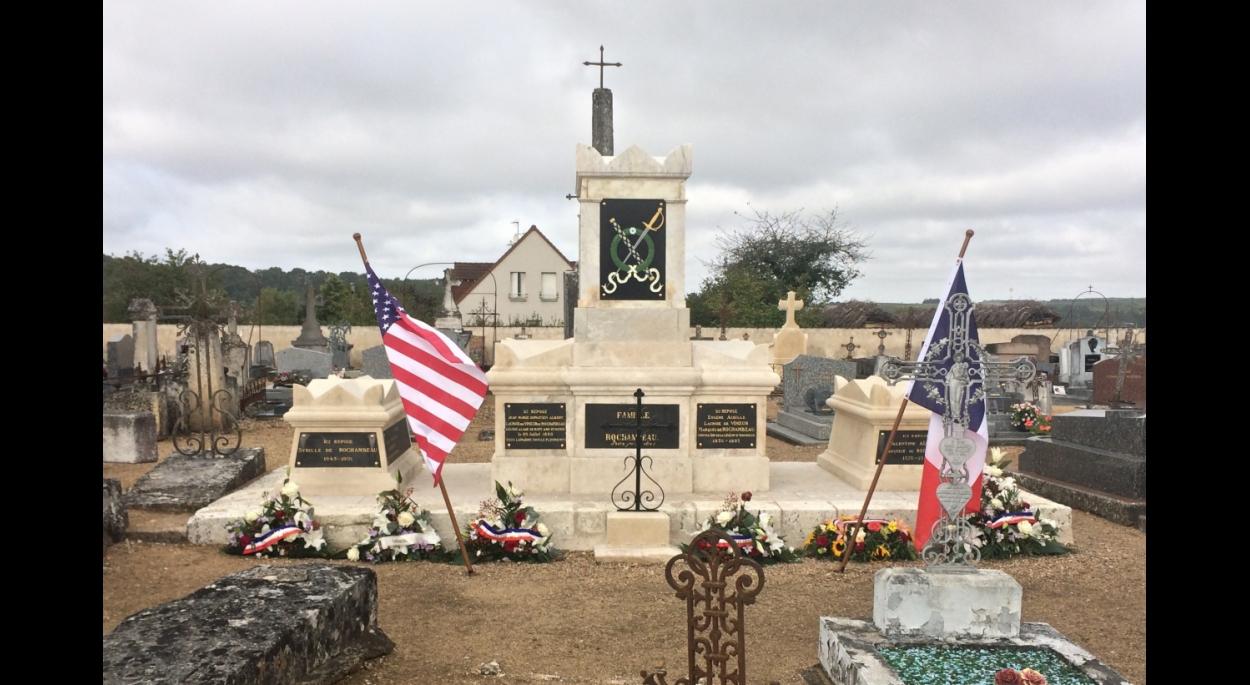 Après travaux : monument funéraire du Maréchal de Rochambeau (12/09/2017)