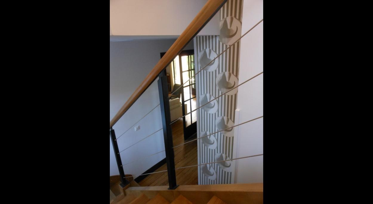 Détail: escalier intérieur