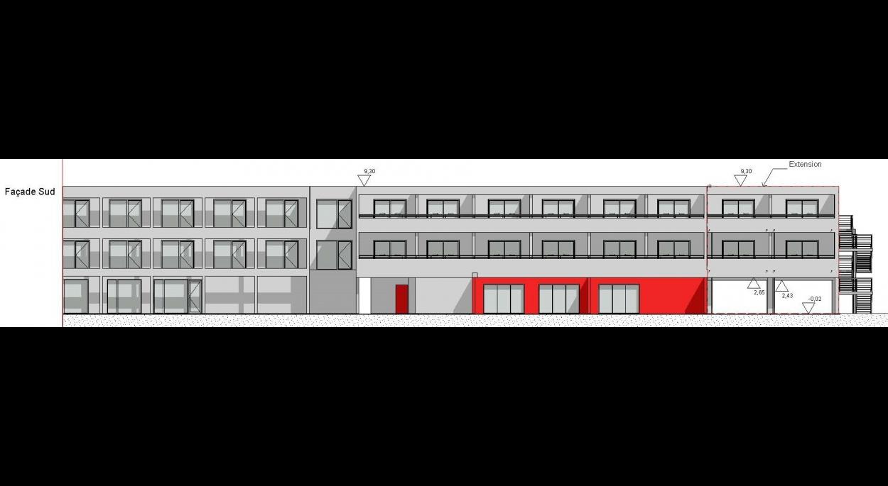 Plans façade Sud
