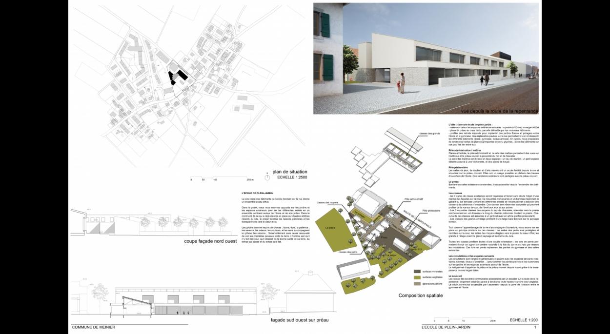 concours pour l'extension d'une école dans le canton de Genève