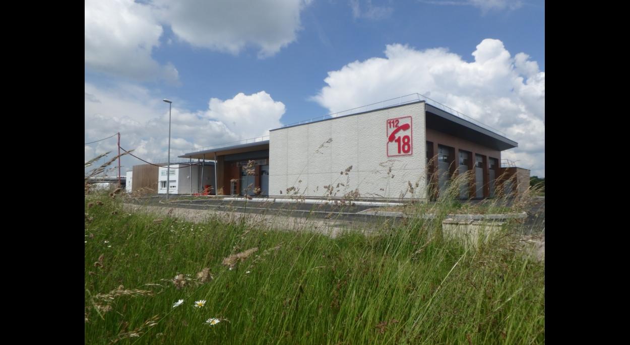 Vue façade Sud sur SDIS