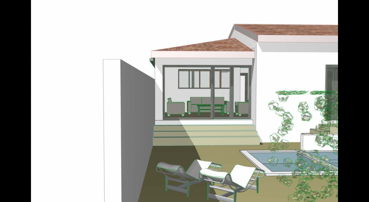ici la vue en 3D donne une idée du projet futur