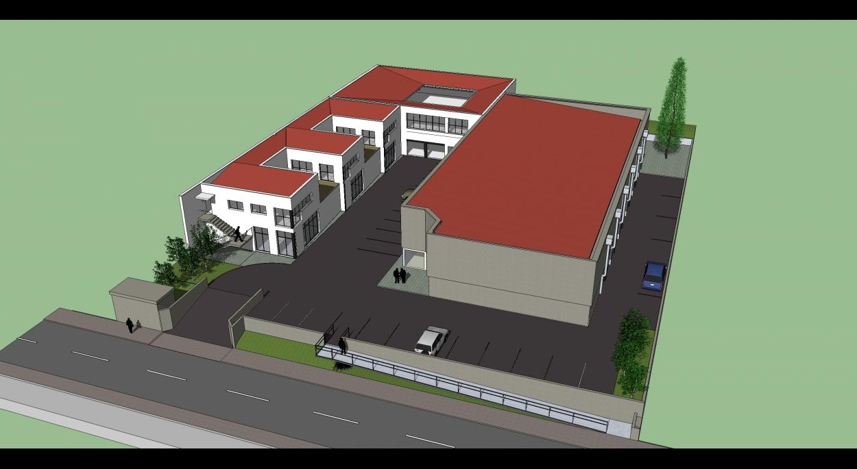 Les bâtiments s'organisent autour d'une placette. Les bureaux en redent permettent des terrasses végétalisées.