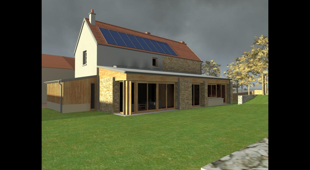 Rémi TURC architecte Château-Thierry Reims Épernay – extension maison, projet jardin