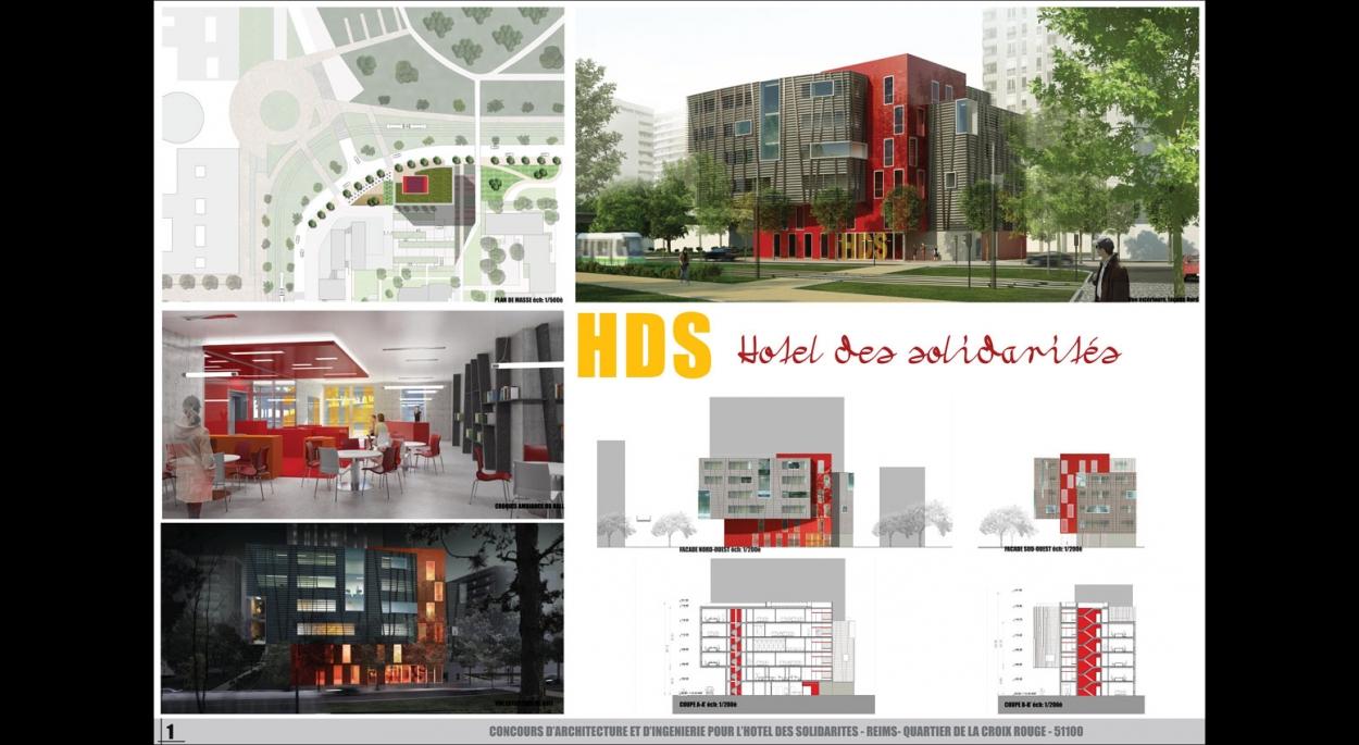 Hotel des Solidarités - rendu de concours, par SLA Architecture