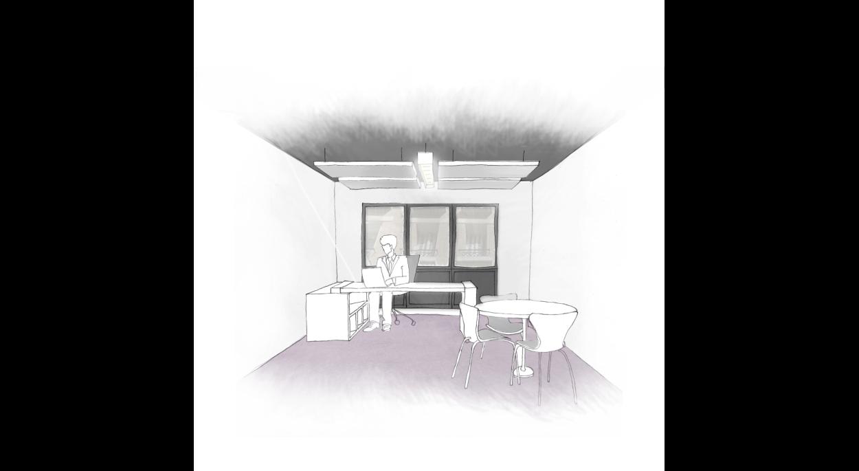 Proposition Bureaux - phase Esquisse - par SLA Architecture