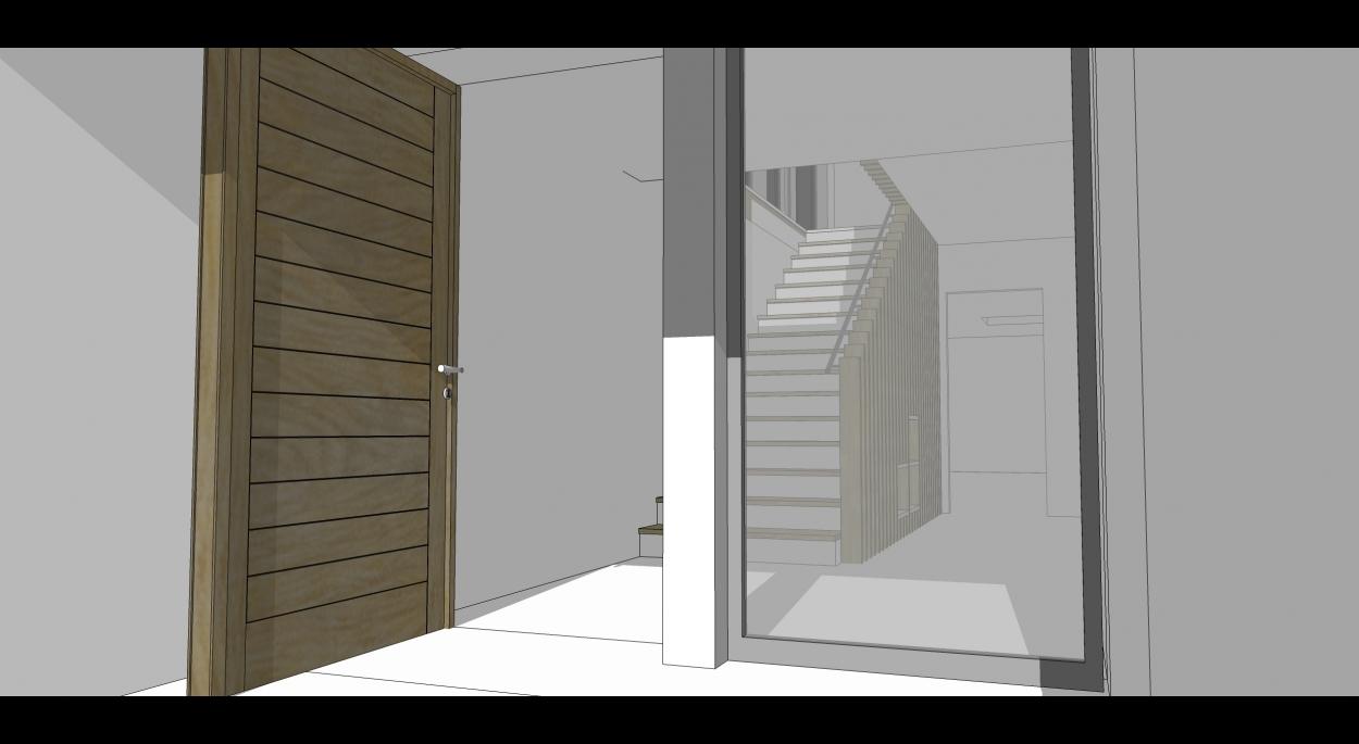 Maison neuve-hall entée- Escalier-Ciboure-Native-Architecture